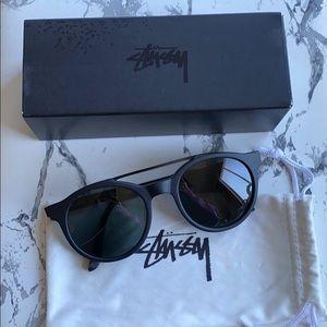 Stussy Luca matte black sunglasses